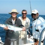 Jack, Art and the Captain with a nice mackerel