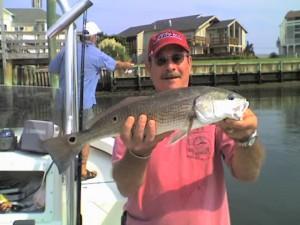 Redfish Fishing inshore Wrightsville Beach, NC